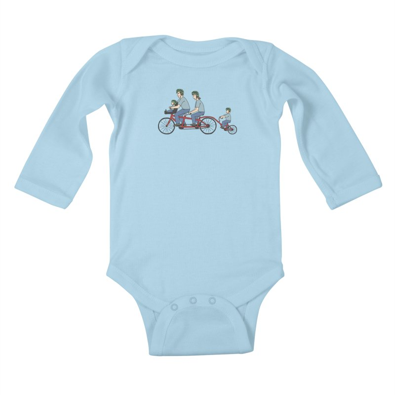 Quad Bicycle Kids Baby Longsleeve Bodysuit by The Wandering Fools