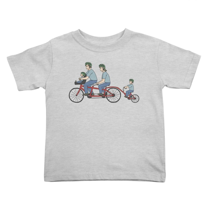 Quad Bicycle Kids Toddler T-Shirt by The Wandering Fools