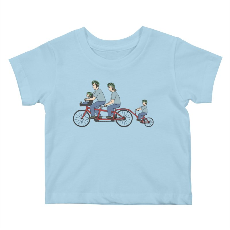 Quad Bicycle Kids Baby T-Shirt by The Wandering Fools