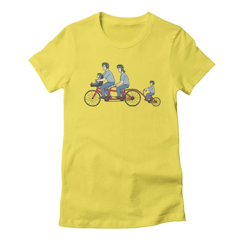 Quad Bicycle Women's T-Shirt by The Wandering Fools Artist Shop