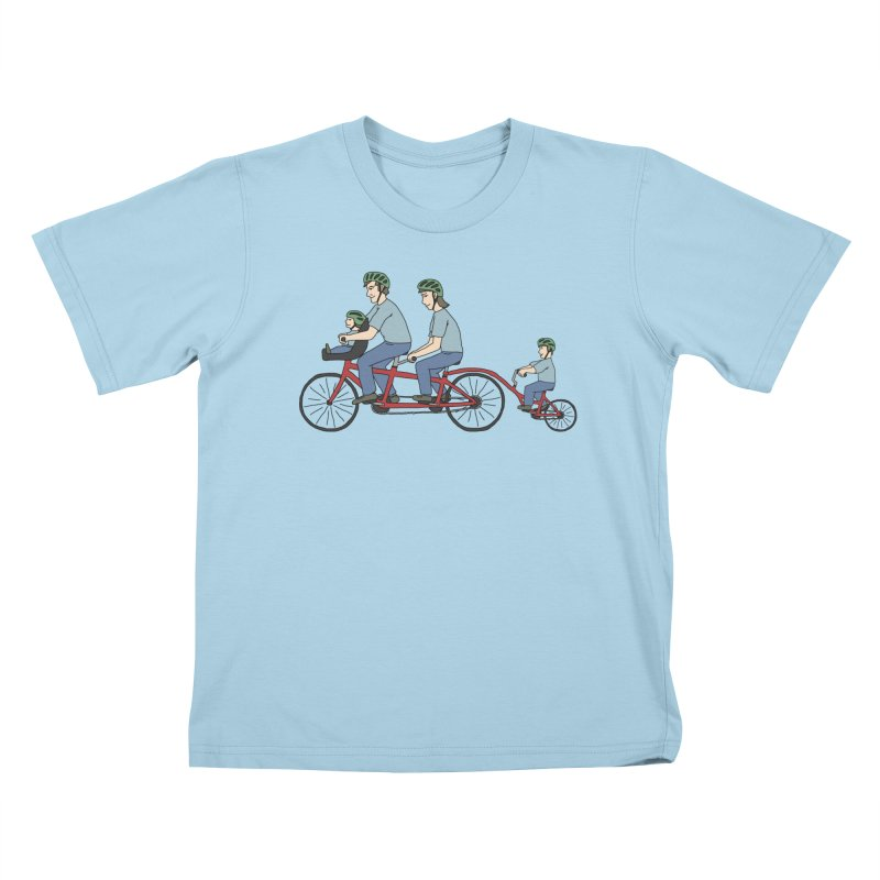 Quad Bicycle Kids T-Shirt by The Wandering Fools