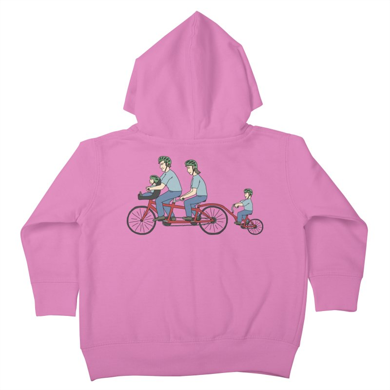 Quad Bicycle Kids Toddler Zip-Up Hoody by The Wandering Fools