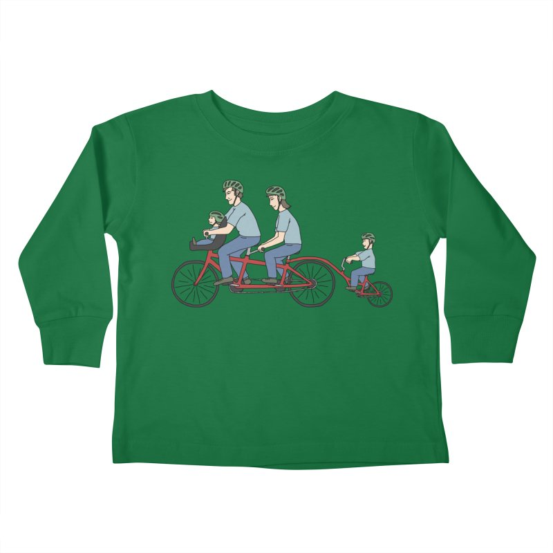 Quad Bicycle Kids Toddler Longsleeve T-Shirt by The Wandering Fools