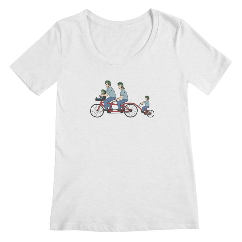 Quad Bicycle Women's Regular Scoop Neck by The Wandering Fools