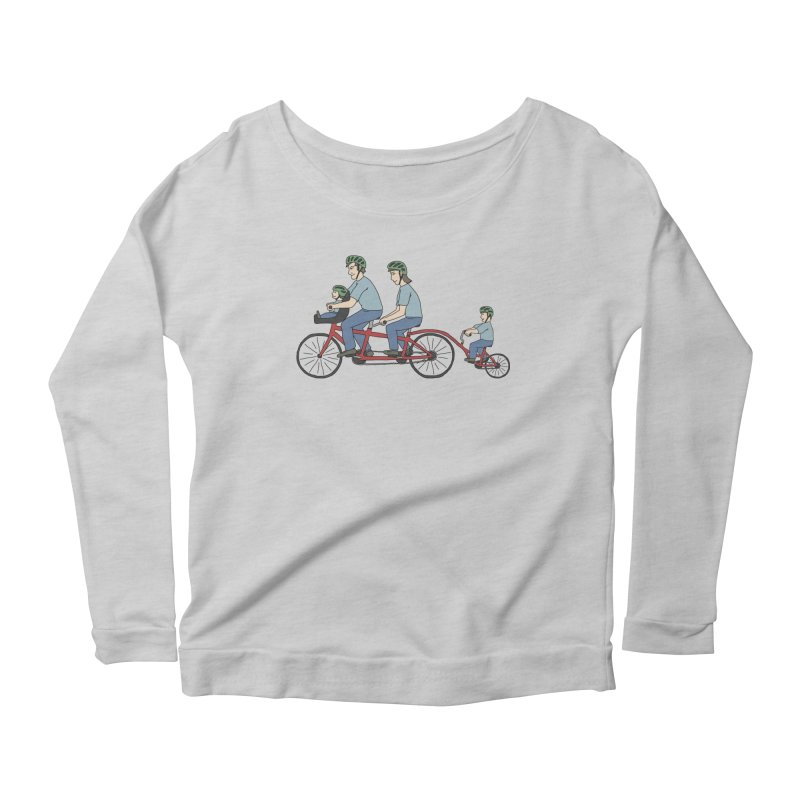 Quad Bicycle Women's Scoop Neck Longsleeve T-Shirt by The Wandering Fools