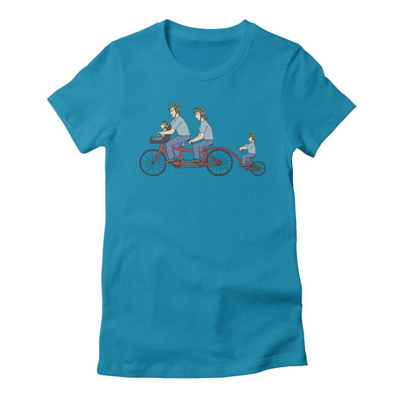 Quad Bicycle Women's Fitted T-Shirt by The Wandering Fools