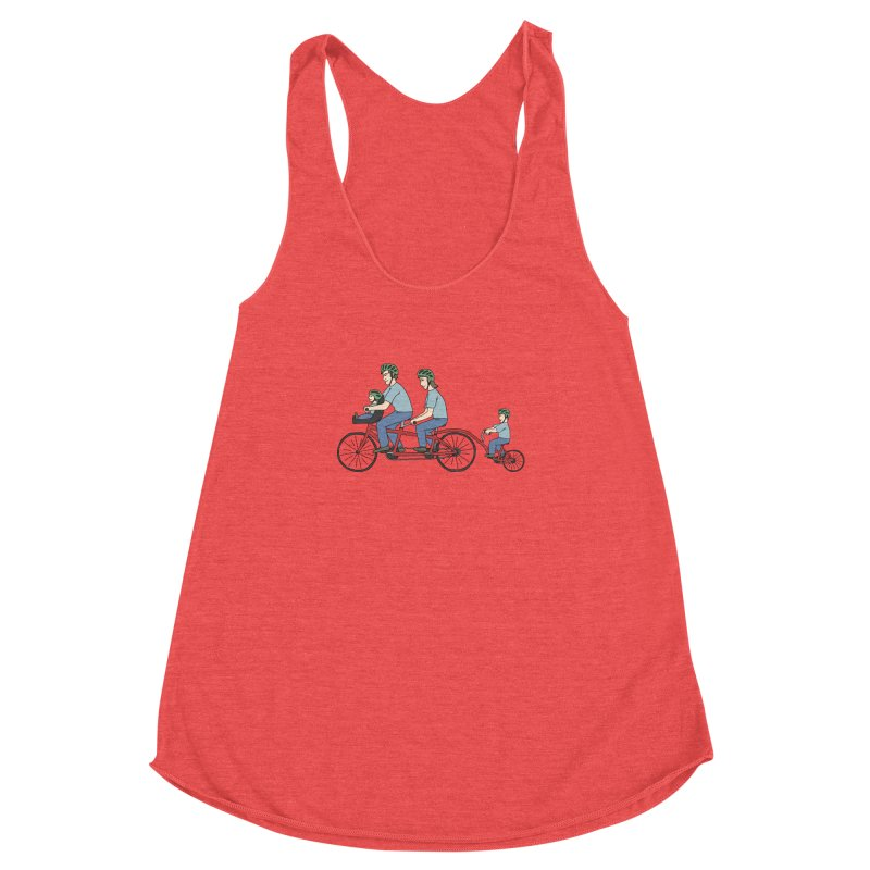 Quad Bicycle Women's Racerback Triblend Tank by The Wandering Fools