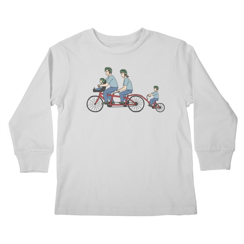 Quad Bicycle Kids Longsleeve T-Shirt by The Wandering Fools