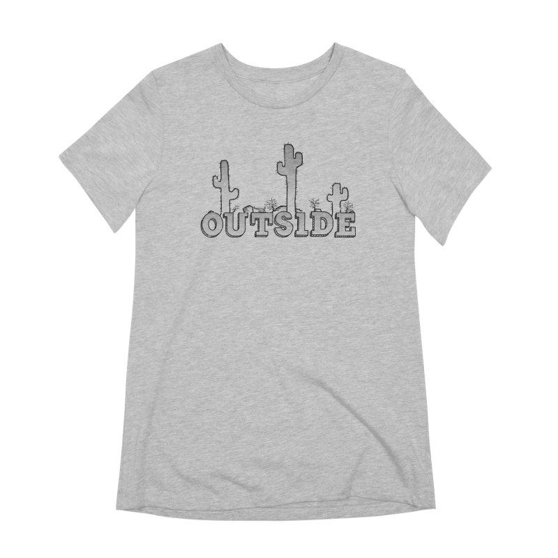 Outside Women's Extra Soft T-Shirt by The Wandering Fools
