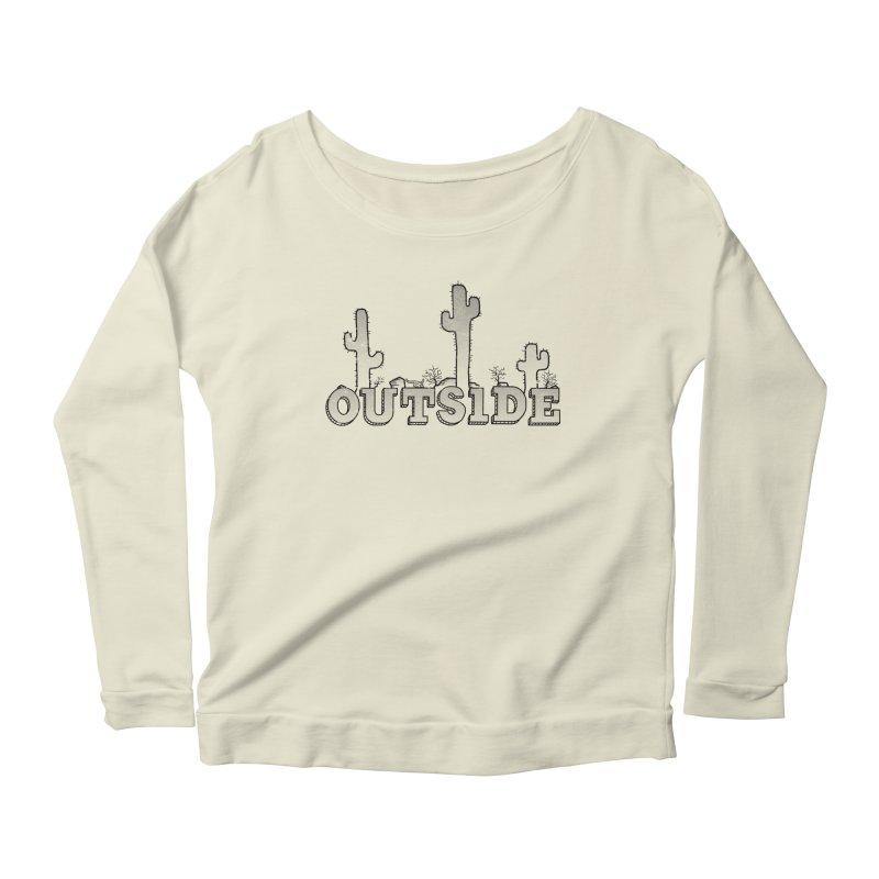 Outside Women's Scoop Neck Longsleeve T-Shirt by The Wandering Fools