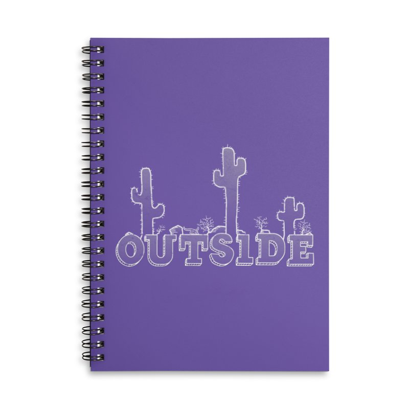 Outside Accessories Lined Spiral Notebook by The Wandering Fools