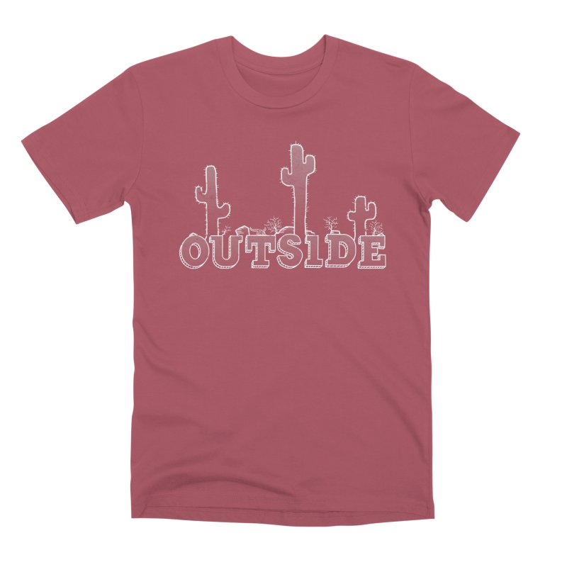 Outside Men's Premium T-Shirt by The Wandering Fools