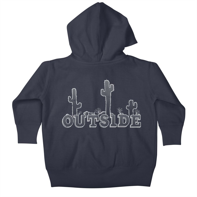 Outside Kids Baby Zip-Up Hoody by The Wandering Fools