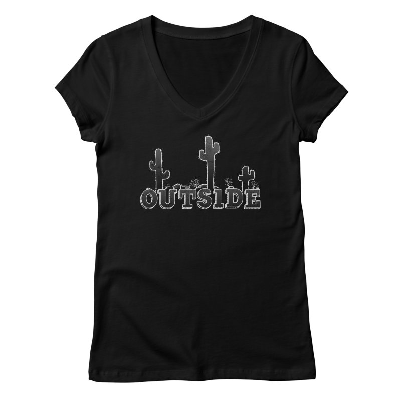 Outside Women's Regular V-Neck by The Wandering Fools