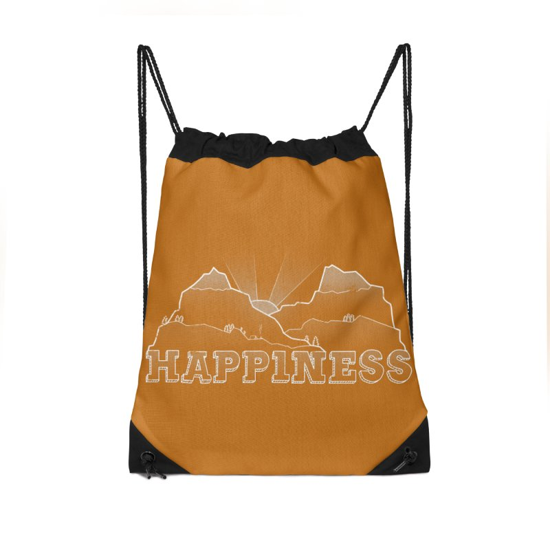 Happiness Accessories Drawstring Bag Bag by The Wandering Fools