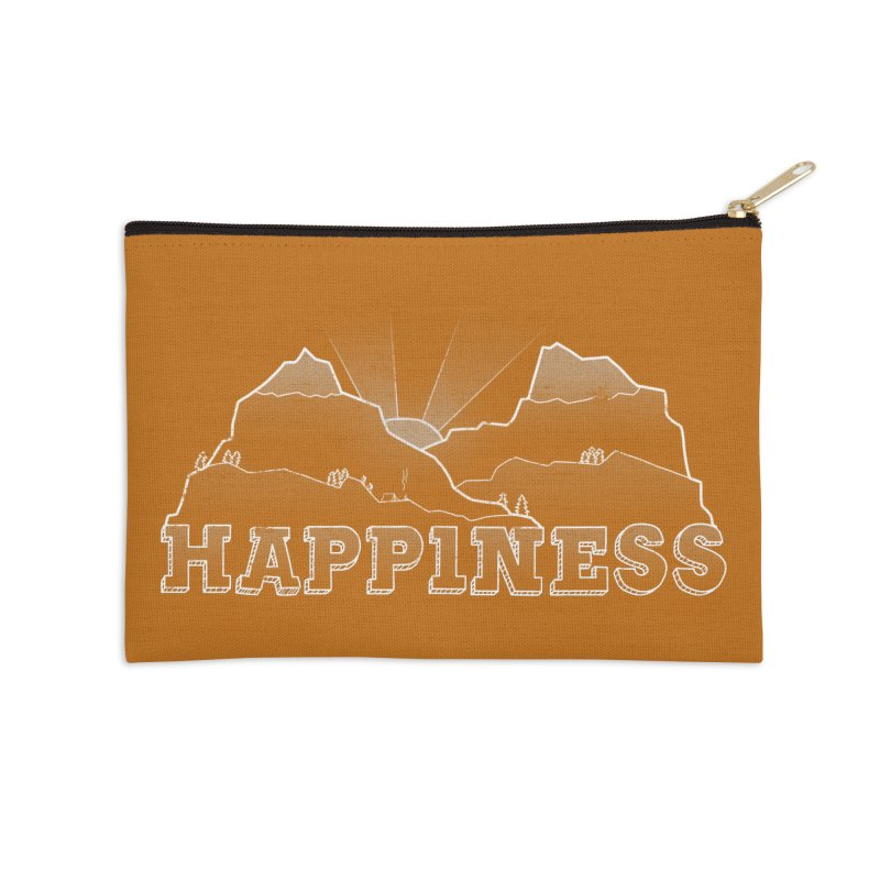 Happiness Accessories Zip Pouch by The Wandering Fools