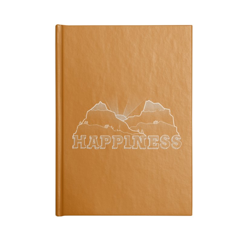 Happiness Accessories Blank Journal Notebook by The Wandering Fools