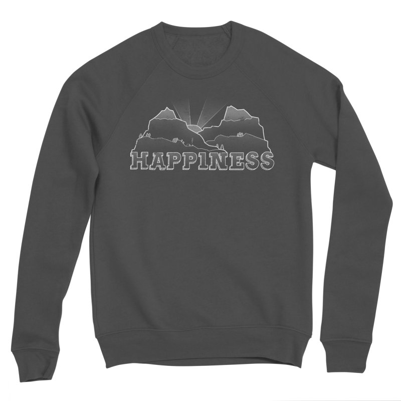 Happiness Men's Sponge Fleece Sweatshirt by The Wandering Fools