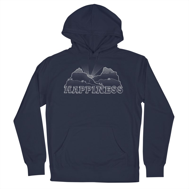 Happiness Men's French Terry Pullover Hoody by The Wandering Fools