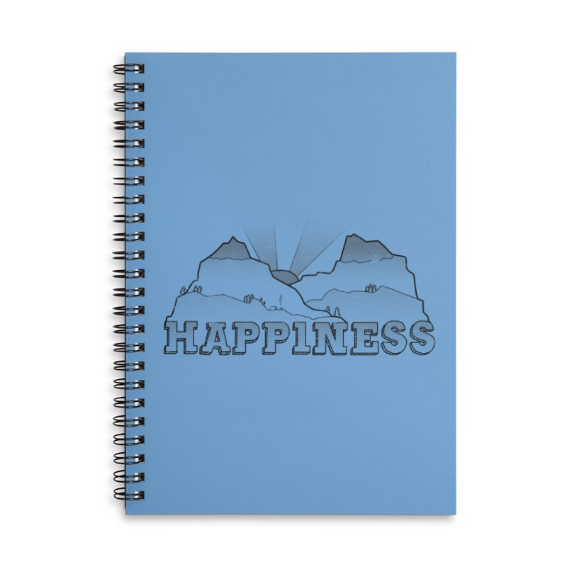 Happiness Accessories Lined Spiral Notebook by The Wandering Fools