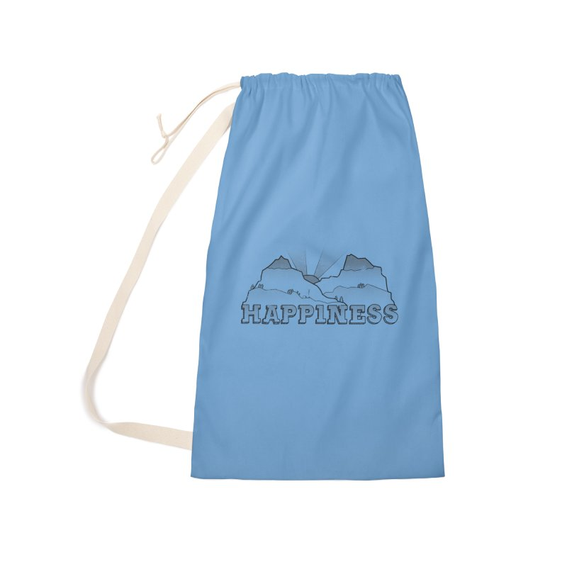Happiness Accessories Laundry Bag Bag by The Wandering Fools