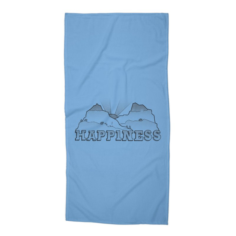 Happiness Accessories Beach Towel by The Wandering Fools