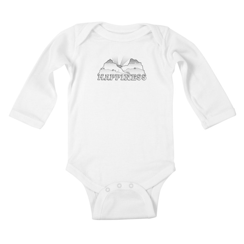 Happiness Kids Baby Longsleeve Bodysuit by The Wandering Fools