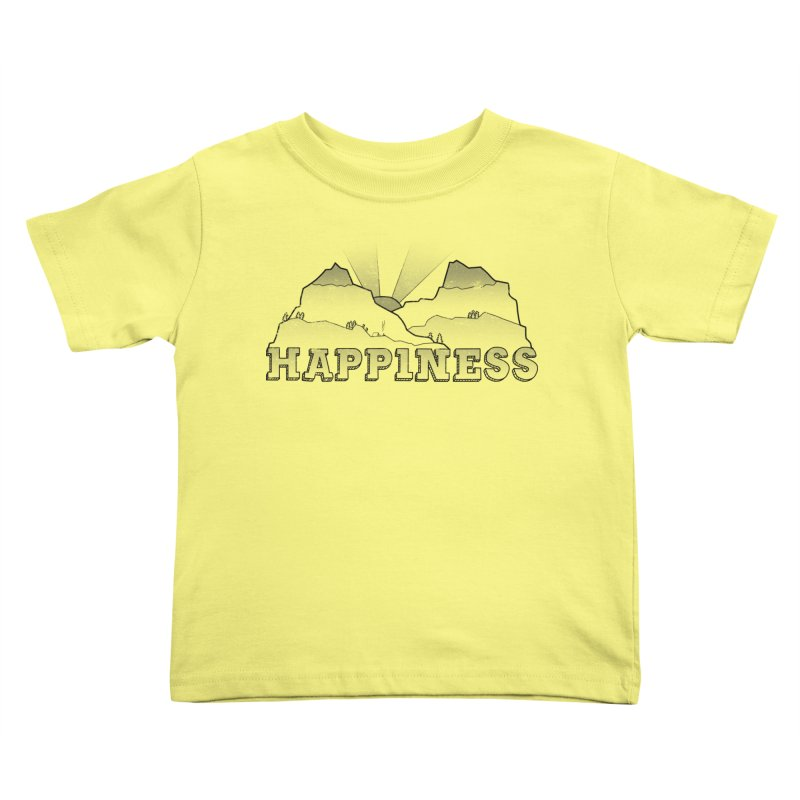Happiness Kids Toddler T-Shirt by The Wandering Fools