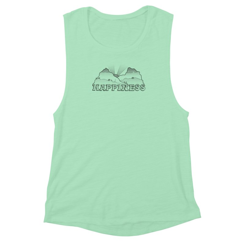 Happiness Women's Muscle Tank by The Wandering Fools