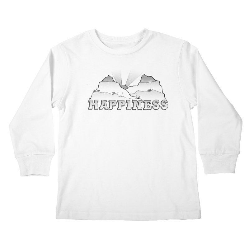 Happiness Kids Longsleeve T-Shirt by The Wandering Fools