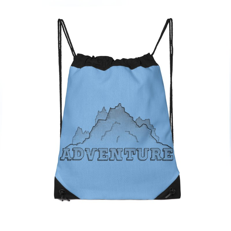 Adventure Accessories Drawstring Bag Bag by The Wandering Fools