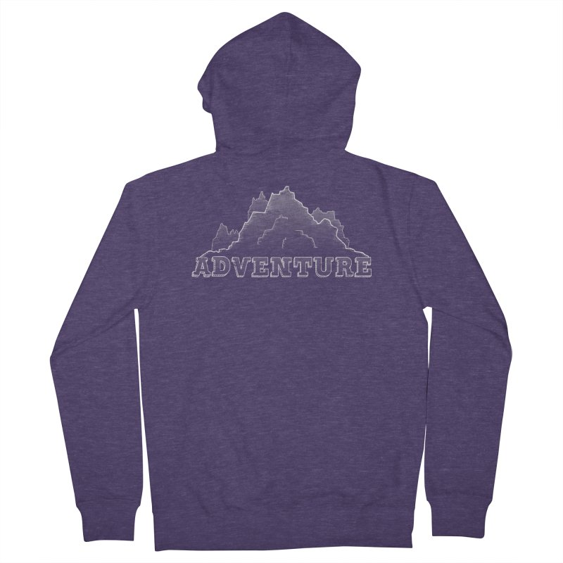 Adventure Men's French Terry Zip-Up Hoody by The Wandering Fools