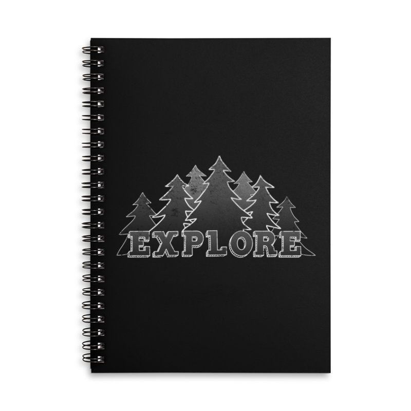 Explore Accessories Lined Spiral Notebook by The Wandering Fools