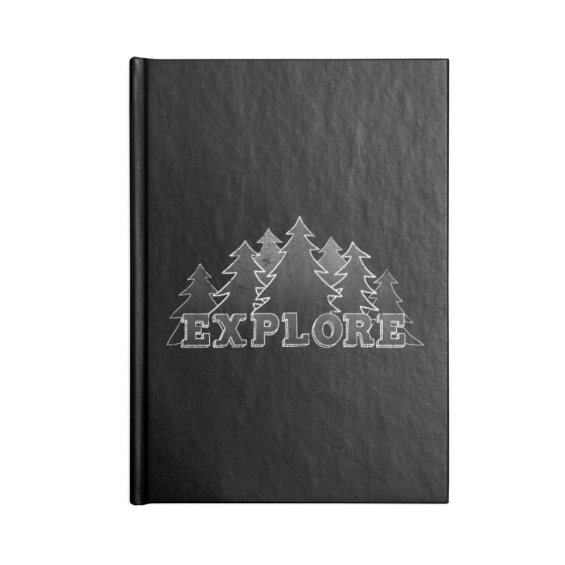 Explore Accessories Lined Journal Notebook by The Wandering Fools