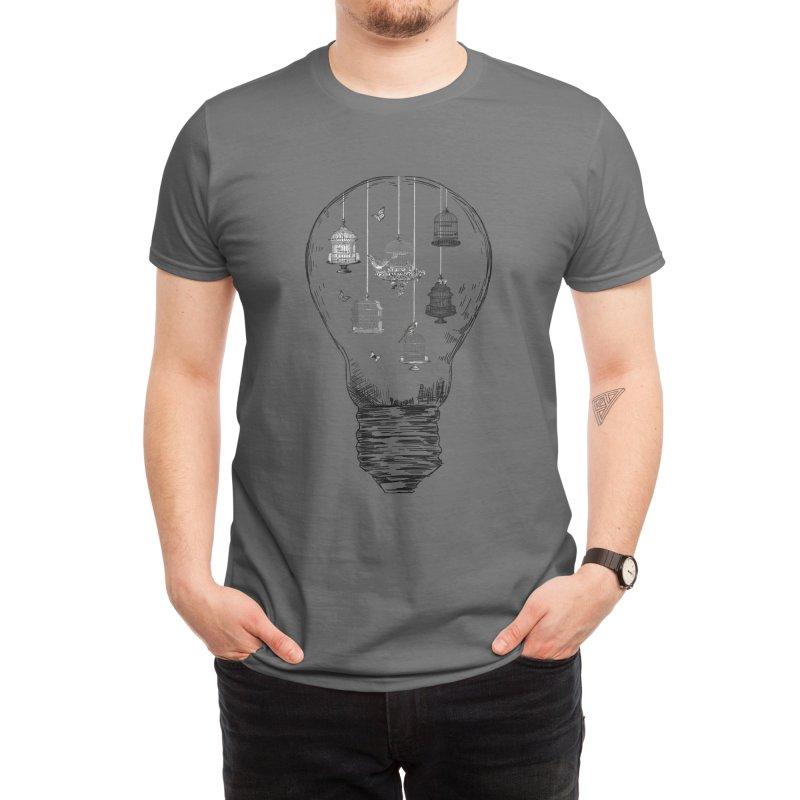 Birdcages Bulb Series Men's T-Shirt by thewanderingillustrator's Artist Shop