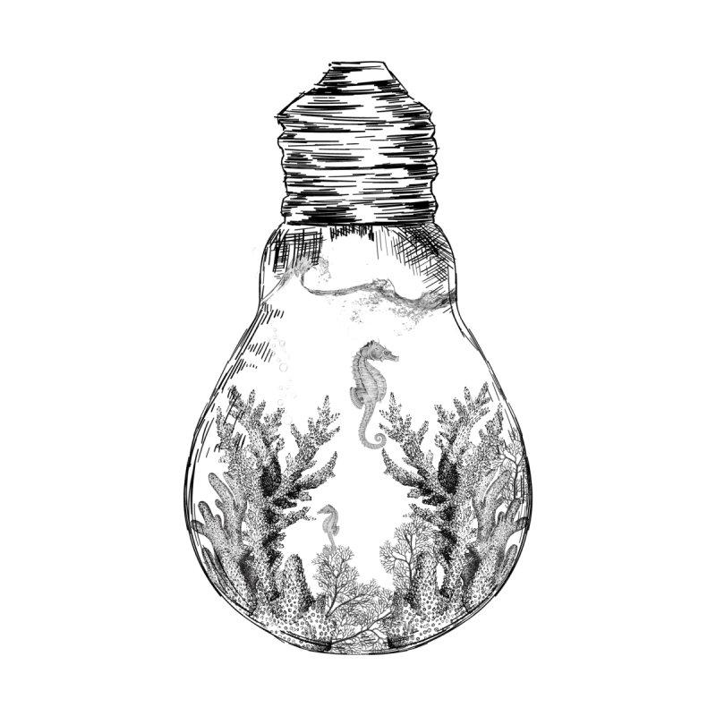 Seahorse Bulb Series Men's T-Shirt by thewanderingillustrator's Artist Shop