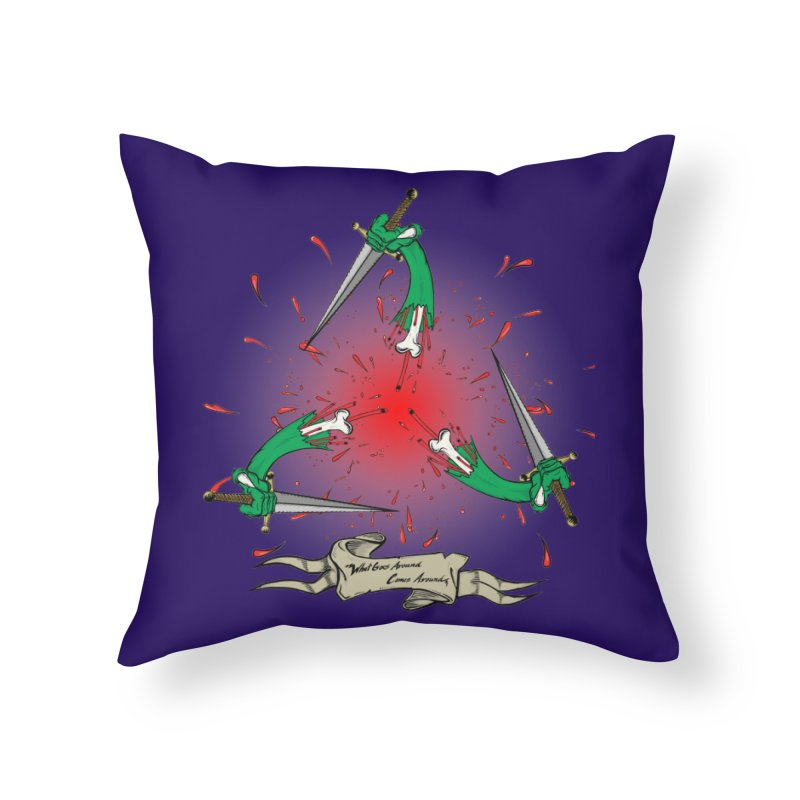 Betrayal (Bloody Version)/ Circle of Violence Series 03 Home Throw Pillow by thewayofpk