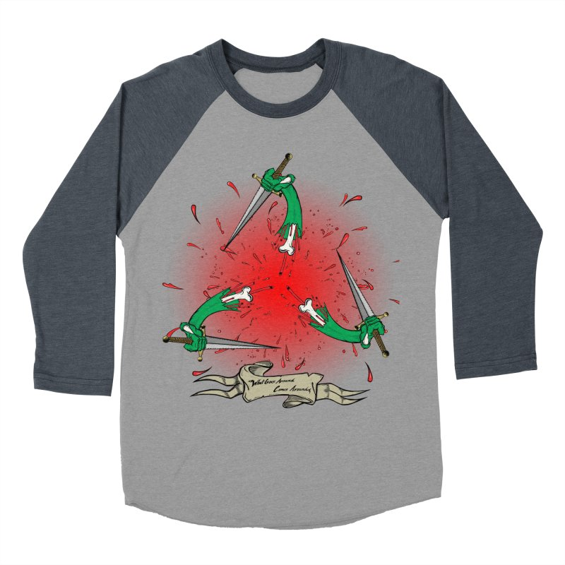 Betrayal (Bloody Version)/ Circle of Violence Series 03 Women's Baseball Triblend T-Shirt by thewayofpk - wear 2 scare