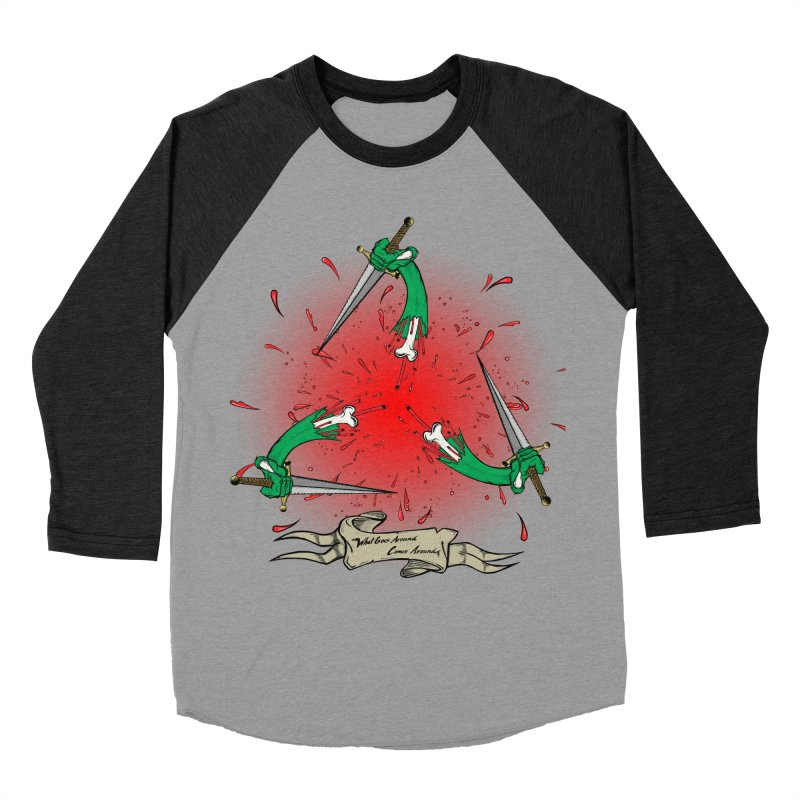 Betrayal (Bloody Version)/ Circle of Violence Series 03 Men's Baseball Triblend T-Shirt by thewayofpk - wear 2 scare