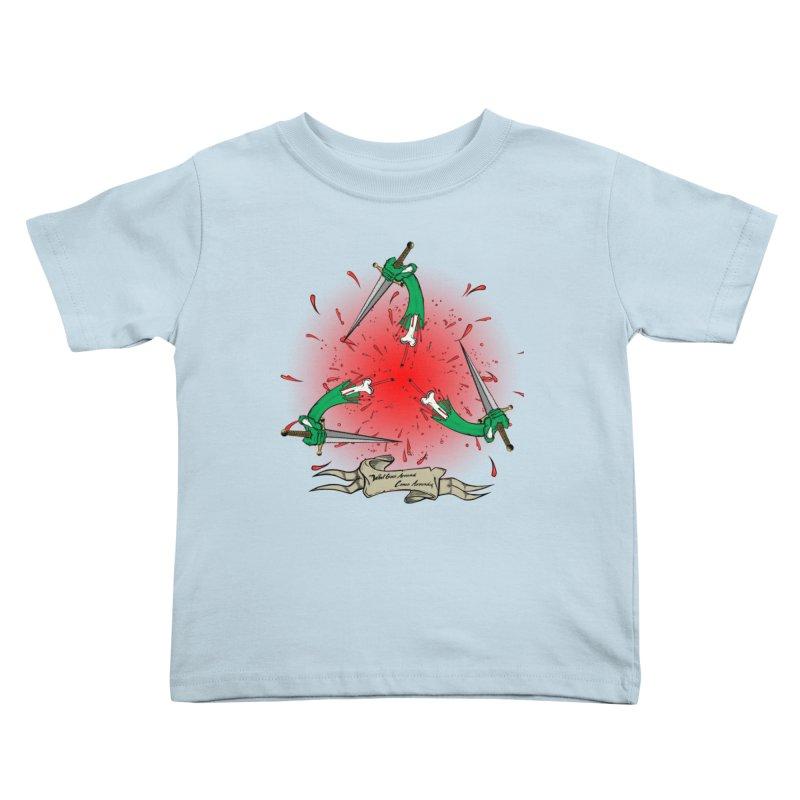 Betrayal (Bloody Version)/ Circle of Violence Series 03 Kids Toddler T-Shirt by thewayofpk - wear 2 scare