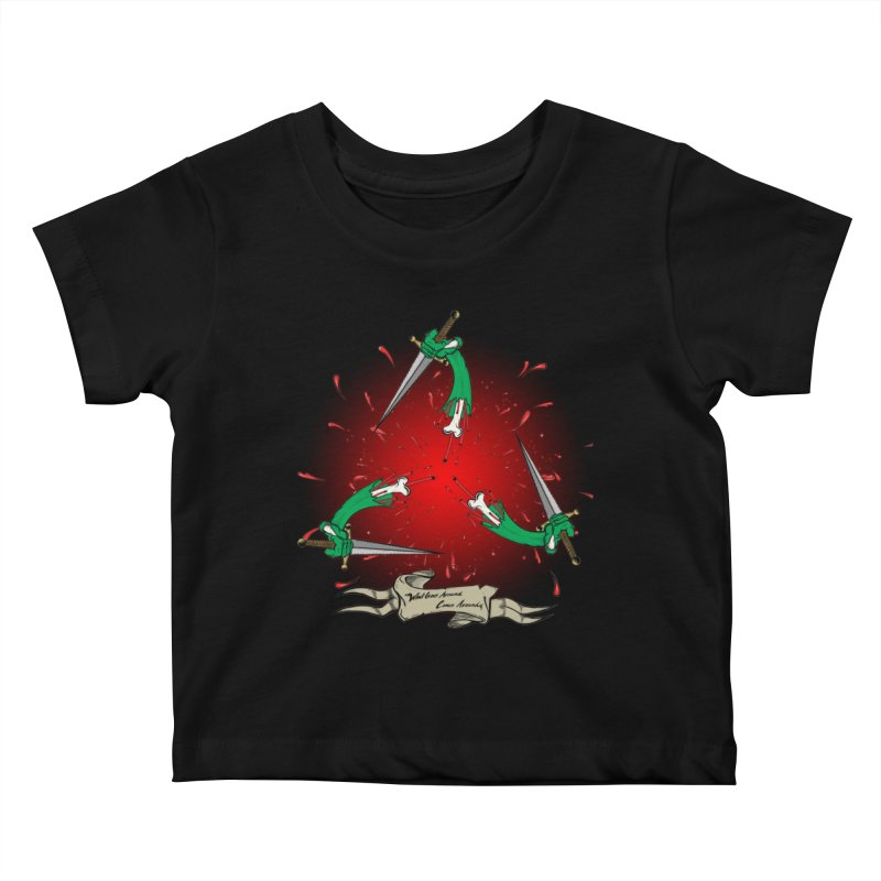 Betrayal (Bloody Version)/ Circle of Violence Series 03 Kids Baby T-Shirt by thewayofpk - wear 2 scare