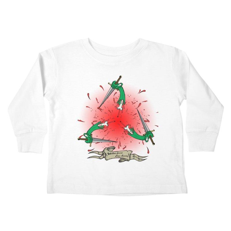 Betrayal (Bloody Version)/ Circle of Violence Series 03 Kids Toddler Longsleeve T-Shirt by thewayofpk - wear 2 scare