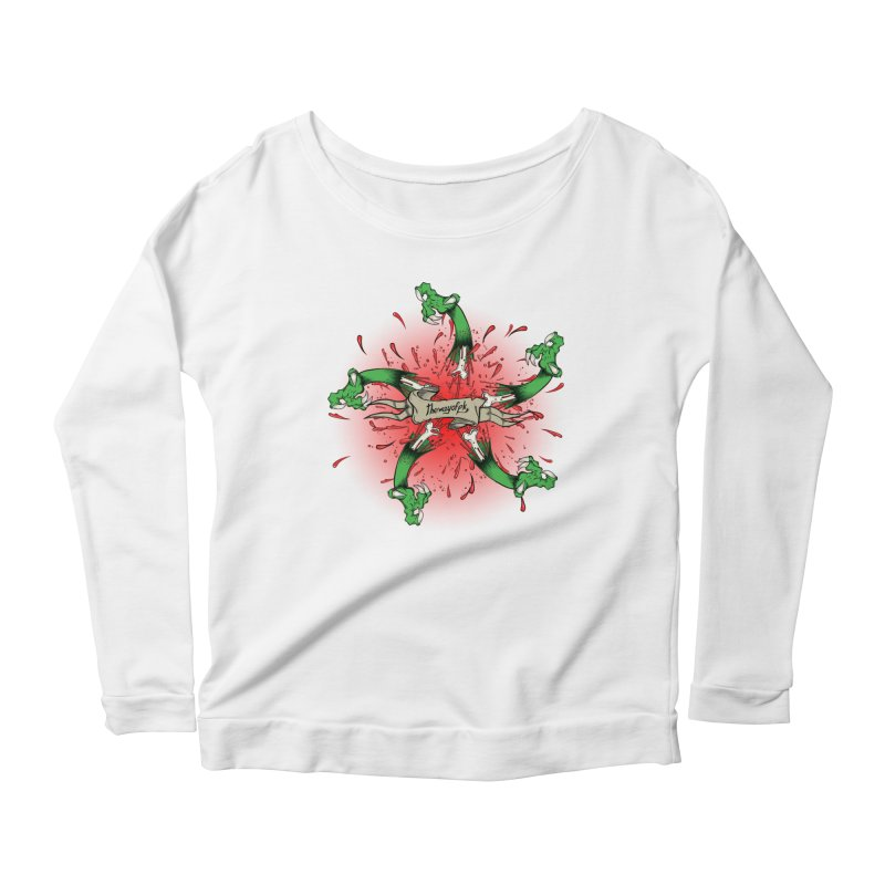 A Brand of Violence/ An end to the Circle of Violence Series Women's Longsleeve Scoopneck  by thewayofpk - wear 2 scare