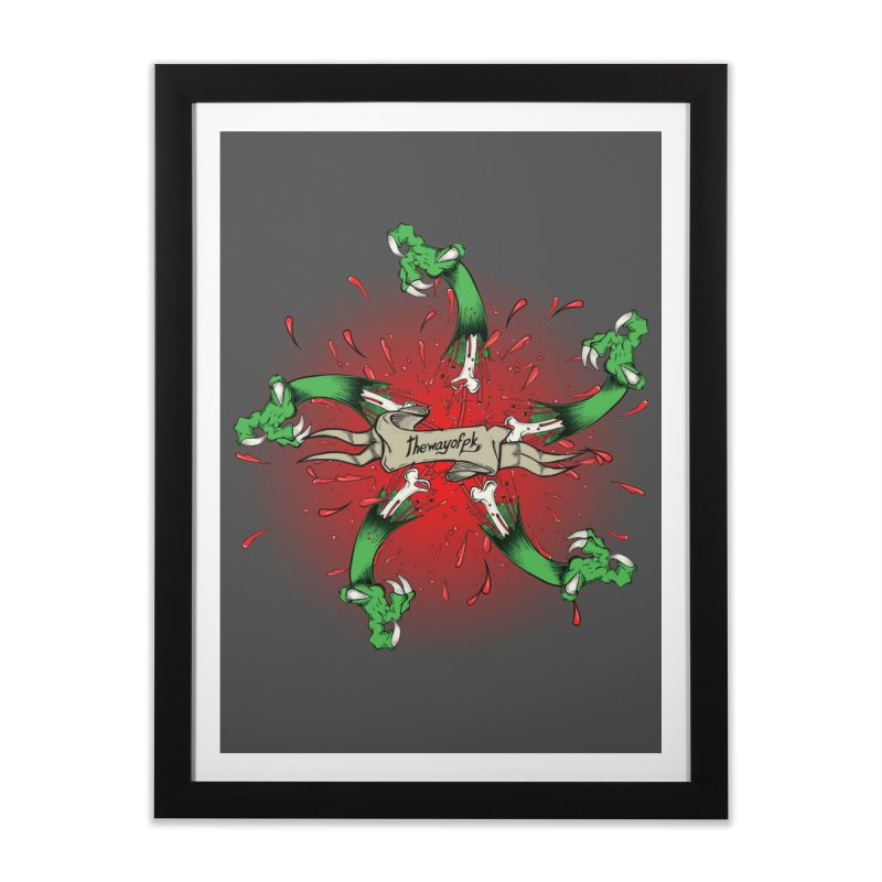 A Brand of Violence/ An end to the Circle of Violence Series Home Framed Fine Art Print by THEWAYOFPK