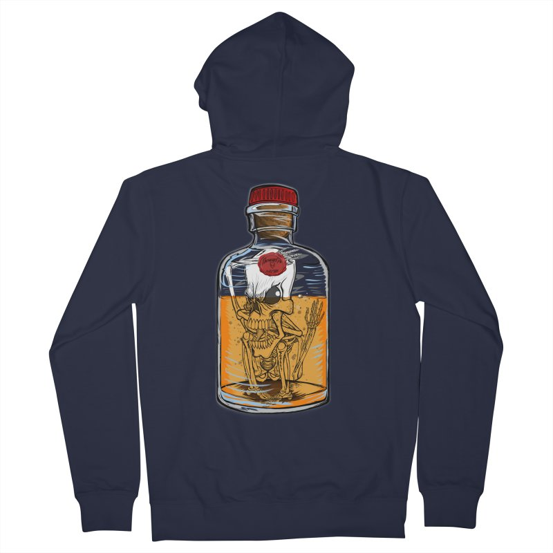 Feeling All Bottled Up Inside... Men's French Terry Zip-Up Hoody by THEWAYOFPK