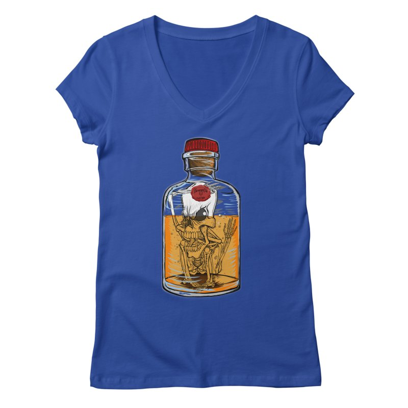Feeling All Bottled Up Inside... Women's V-Neck by thewayofpk - wear 2 scare