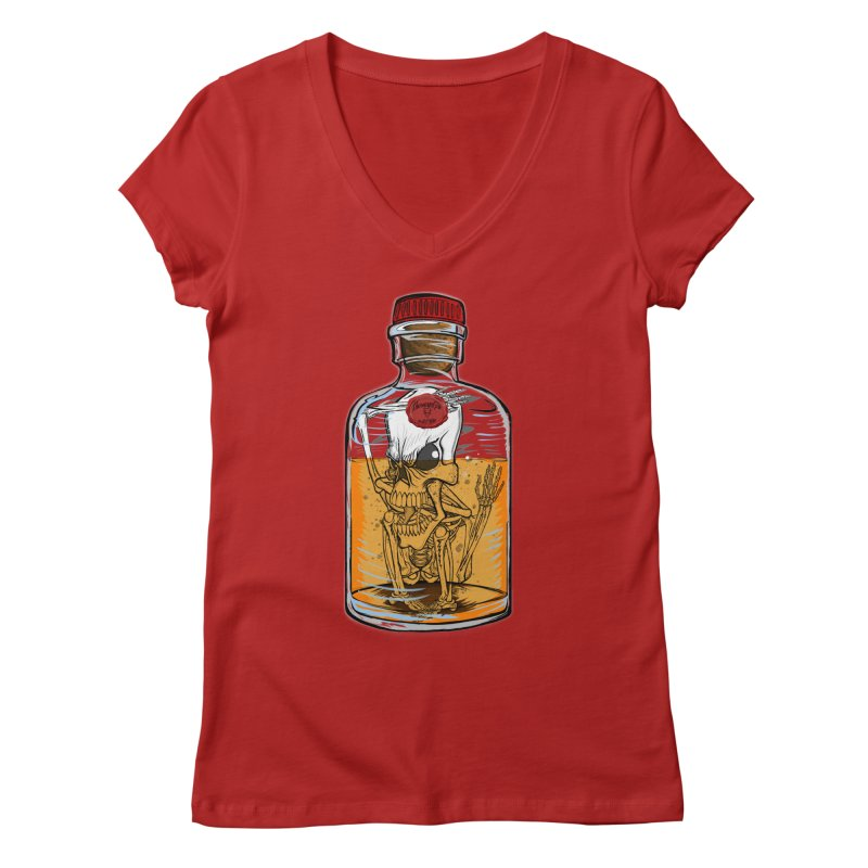Feeling All Bottled Up Inside... Women's V-Neck by thewayofpk - wear 2 scare