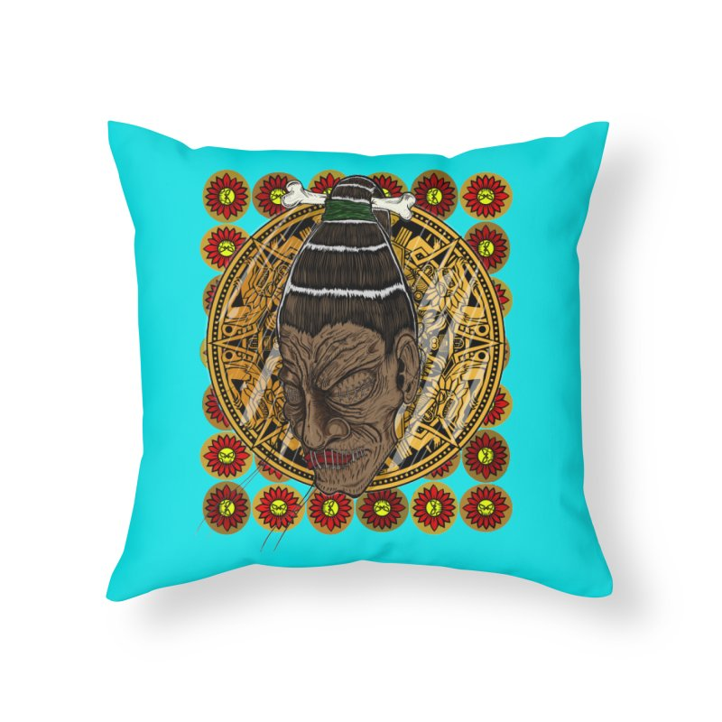Aztecthica Home Throw Pillow by thewayofpk