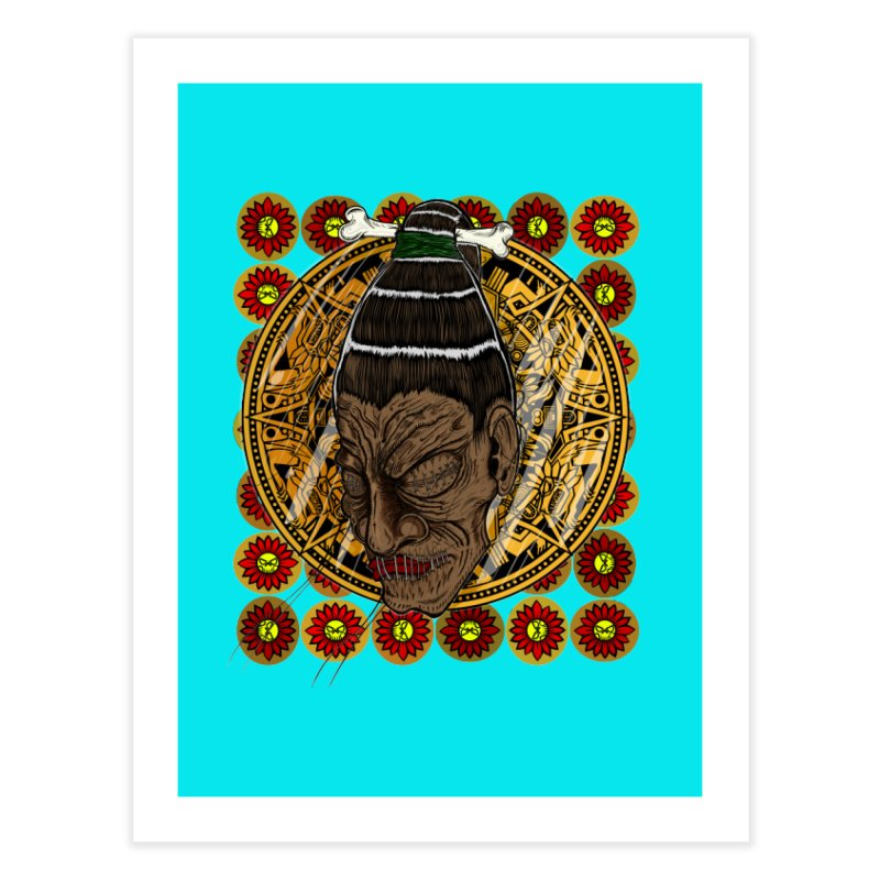 Aztecthica Home Fine Art Print by thewayofpk - wear 2 scare