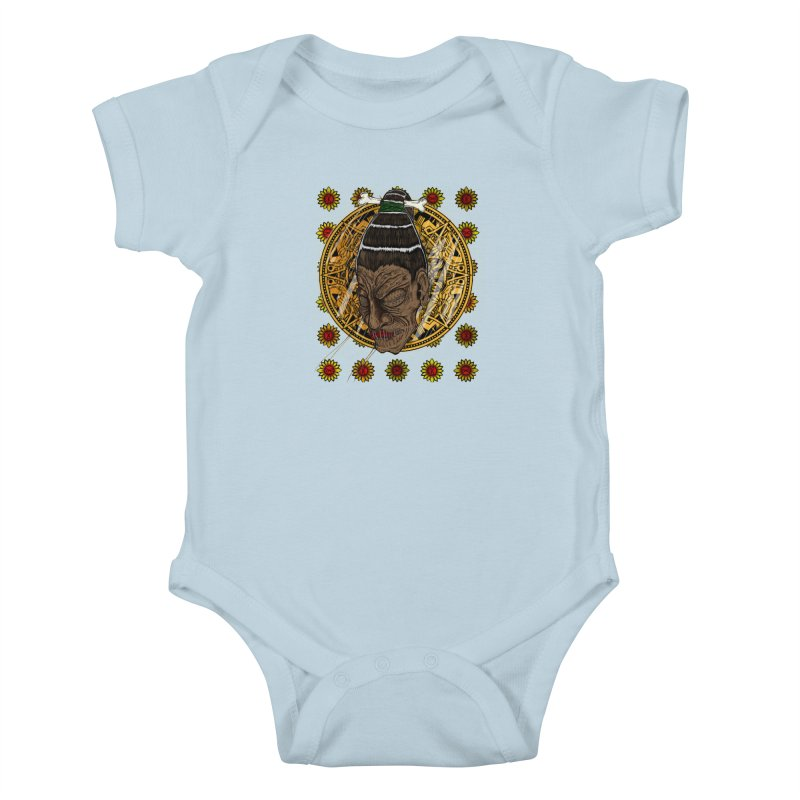 Aztecthica Kids Baby Bodysuit by thewayofpk - wear 2 scare